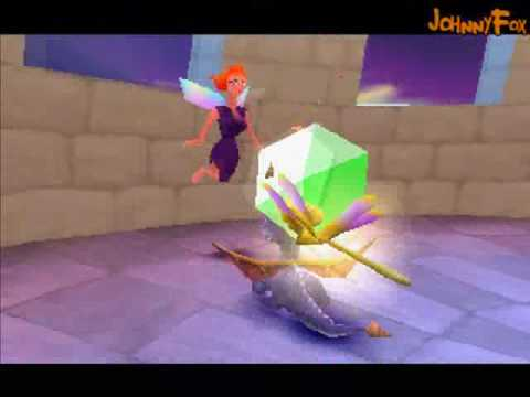 Spyro the Dragon -28- Haunted Towers, I LOOOVE THIS LEVEL! It's got big scary enemies whose  you can kick with a powerup only, one tricky supercharge spot, loads of flame powerups, HOT chicks ...