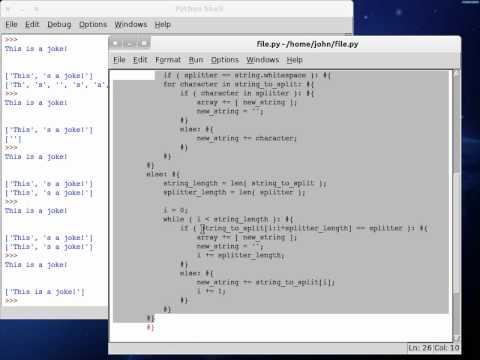 Python 3 split