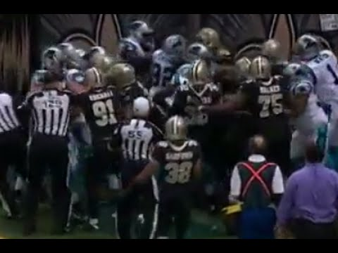 Cam Newton Superman Celebration Leads to Crazy Fight During Panthers-Saints Game