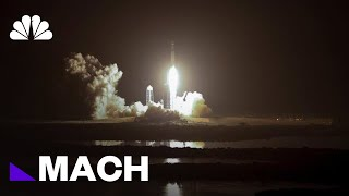 SpaceX Falcon Heavy Rocket Launches From Cape Canaveral | Mach | NBC News
