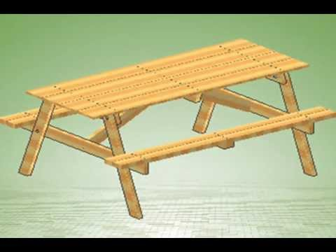 How to build a Picnic Table with Assembly instructions link - YouTube