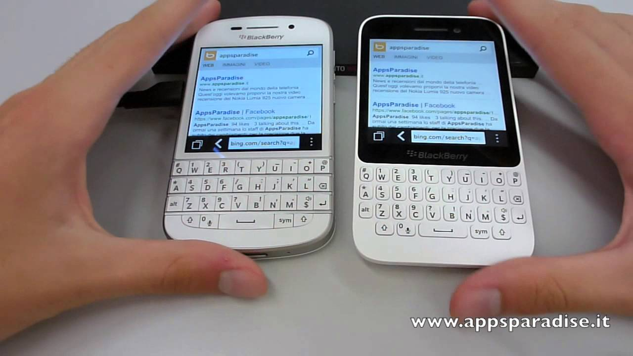 Confronto BlackBerry Q10 vs BlackBerry Q5 ita by AppsParadise ...