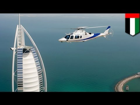 Helicopter crashes in Dubai's Palm Jumeirah injuring two