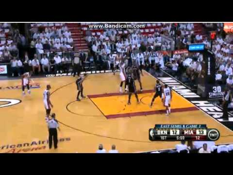 LeBron Beautiful Floater 2014 NBA Playoffs R2G1 Heat Vs Nets