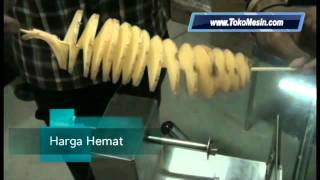 Cooking | mesin twist potato pengiris kentang spiral | mesin twist potato pengiris kentang spiral
