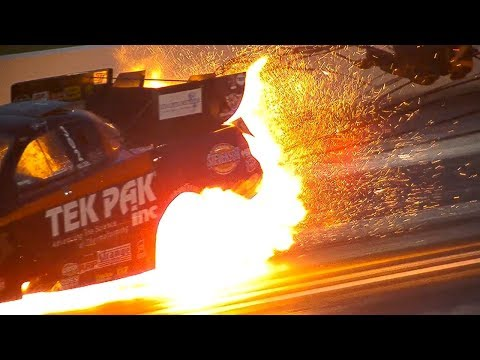 Dale Creasy Jr. Engine Explodes @ 2014 NHRA Chicago