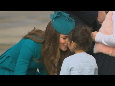 The Duke and Duchess of Cambridge visit Dunedin for Sunday service