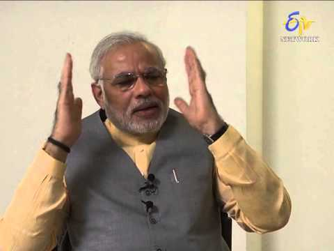 NARENDRA MODI EXCLUSIVE INTERVIEW WITH ETV NETWORK