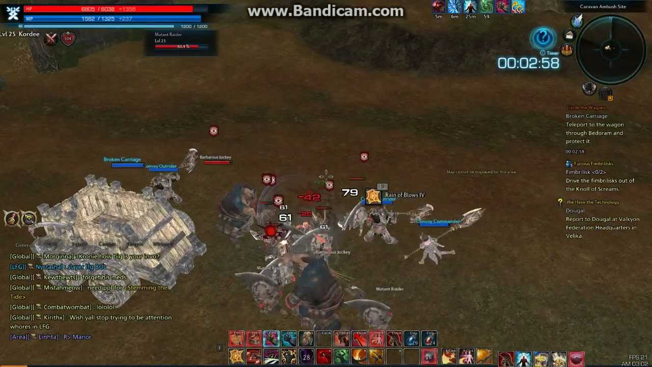 Tera online warrior game play story quest circle the wagons