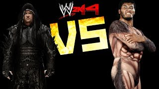 WWE 2K14: The Undertaker VS Giant Gonzalez [FR//HD]
