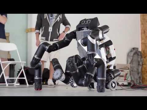 RoboSimian Performs at DARPA's Robot Challenge | NASA JPL Science HD