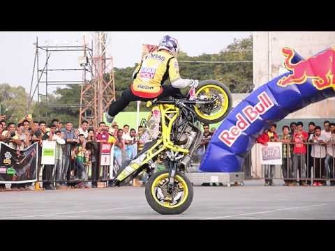 Aras Gibieza Freestyle Stunt Rider India Bike Week (IBW) on Tour - Mangalore 2015