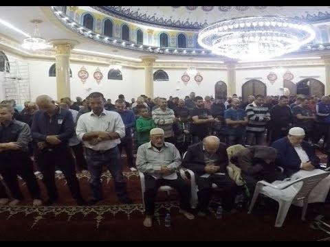 صلاة العشاء والتراويح ليلة الرابع من رمضان من مسجد الروضة في جلجولية -