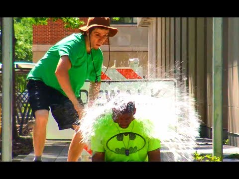 Throwing Water Balloons at People Prank Part 2