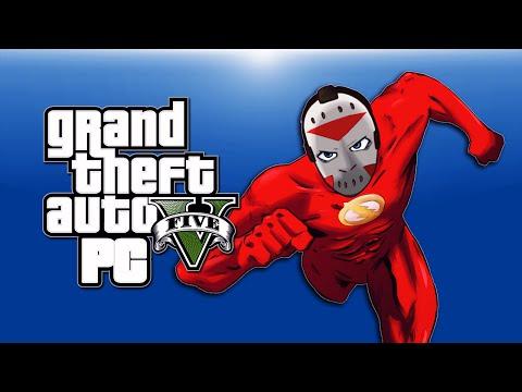 GTA 5 PC Funny Moments - Flash Mod, Aliens, Zombies, Clowns, Gravity Gun, Telekinesis!)
