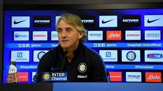 Live! Conferenza stampa Mancini prima di Empoli-Inter 05.01.2016 12:30CET