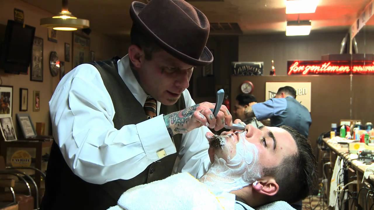 Barber And Shave Shoppe : The Straight Razor Shave Lecture with Donnie Hawley - YouTube