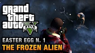 GTA 5 Easter Egg #1 Frozen Alien And Secret Map