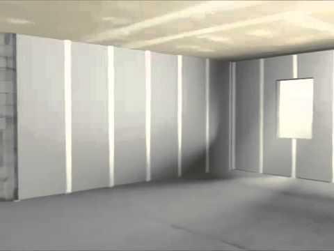 rigips massivw nde beplanken d mmen innen youtube. Black Bedroom Furniture Sets. Home Design Ideas
