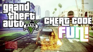 GTA V Cheat Codes Fun! (Grand Theft Auto 5 Cheat Codes