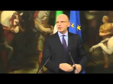 Ultima conferenza stampa di Enrico Letta come Presidente del Consiglio