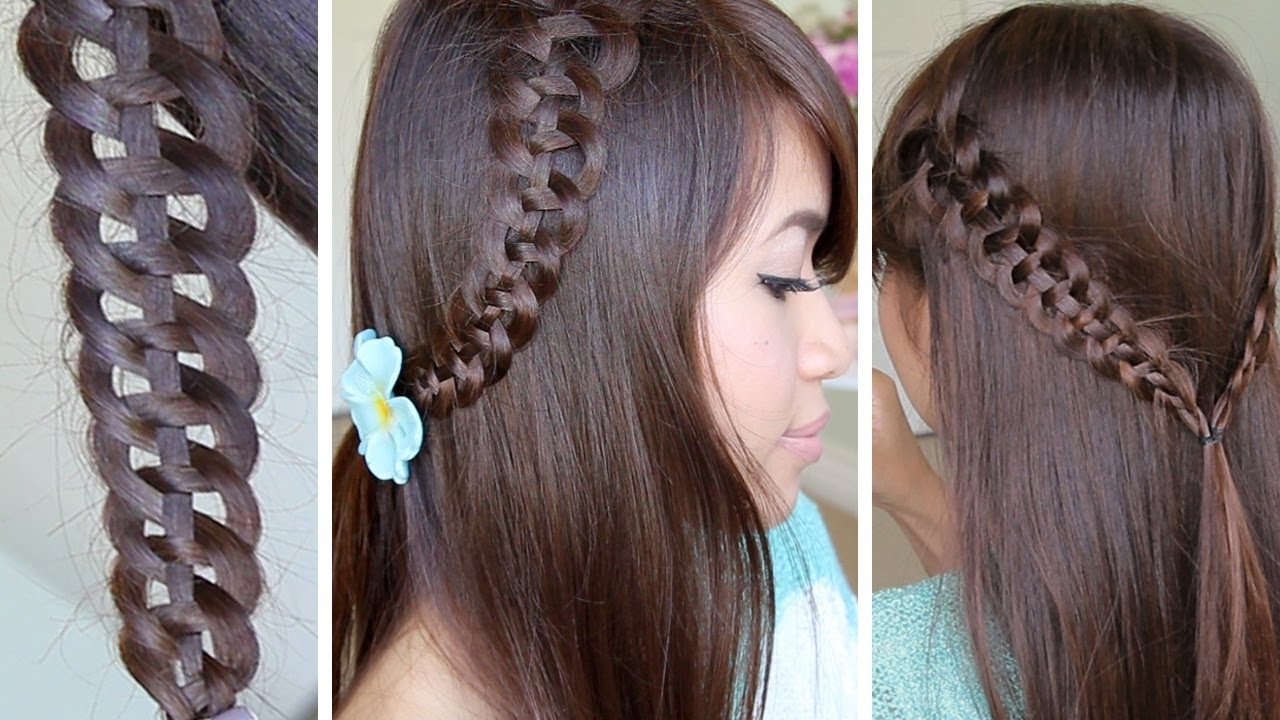 Strand Slide-Up Braid Hairstyle Hair Tutorial - YouTube