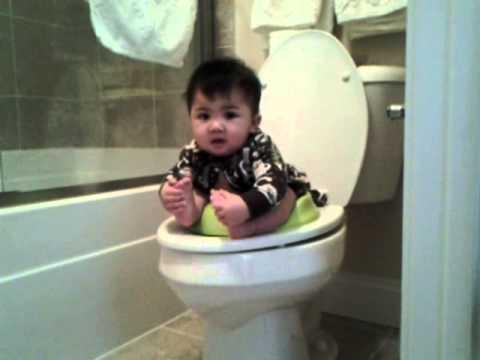 Caleb Joseph @ 96 Weeks - 1st Poop on the Toilet - YouTube