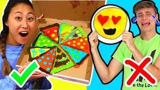 PANCAKE ART CHALLENGE WITH MY BOYFRIEND!! (CARTER SHARER)