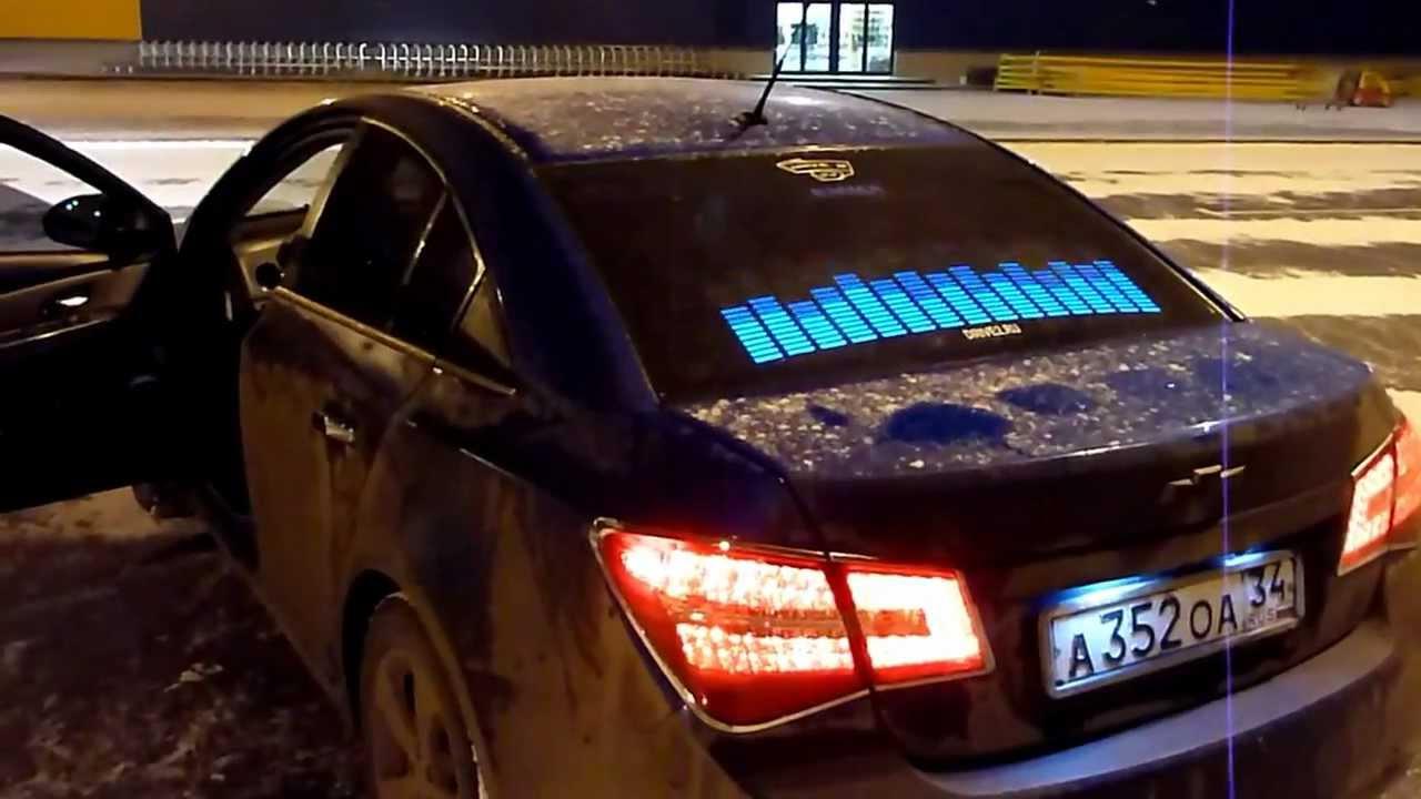 графический эквалайзер на стекло автомобиля