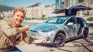 THE CRAZIEST TESLA MODEL X FEATURES (PARTY MODE, MARS MAP ETC...) | NICO ROSBERG | eVLOG