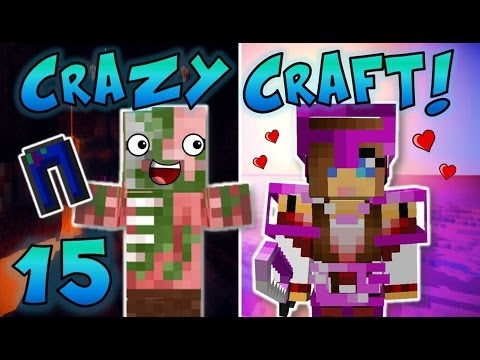 Minecraft: Crazy Craft Ep. 15 - GIRLFRIEND STOLE MY PANTS! (FUNNY!)