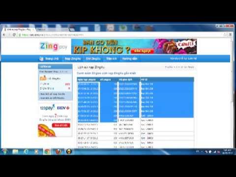 Nạp xu tại pay.zing.vn - Zing Pay - Nap ZingXu khuyến mãi 100% Napzingpay.Com