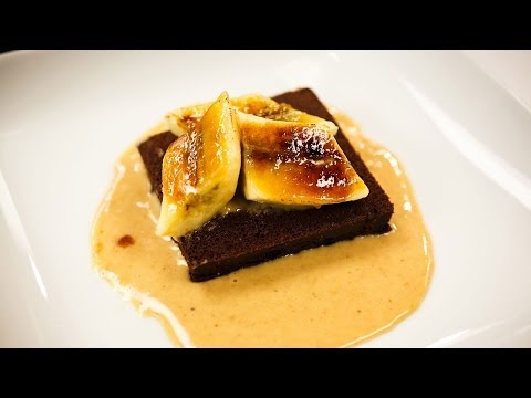 Recipe Rehab TV Season 1 How-To: Brownies With Peanut Butter Sauce and Caramelized Bananas