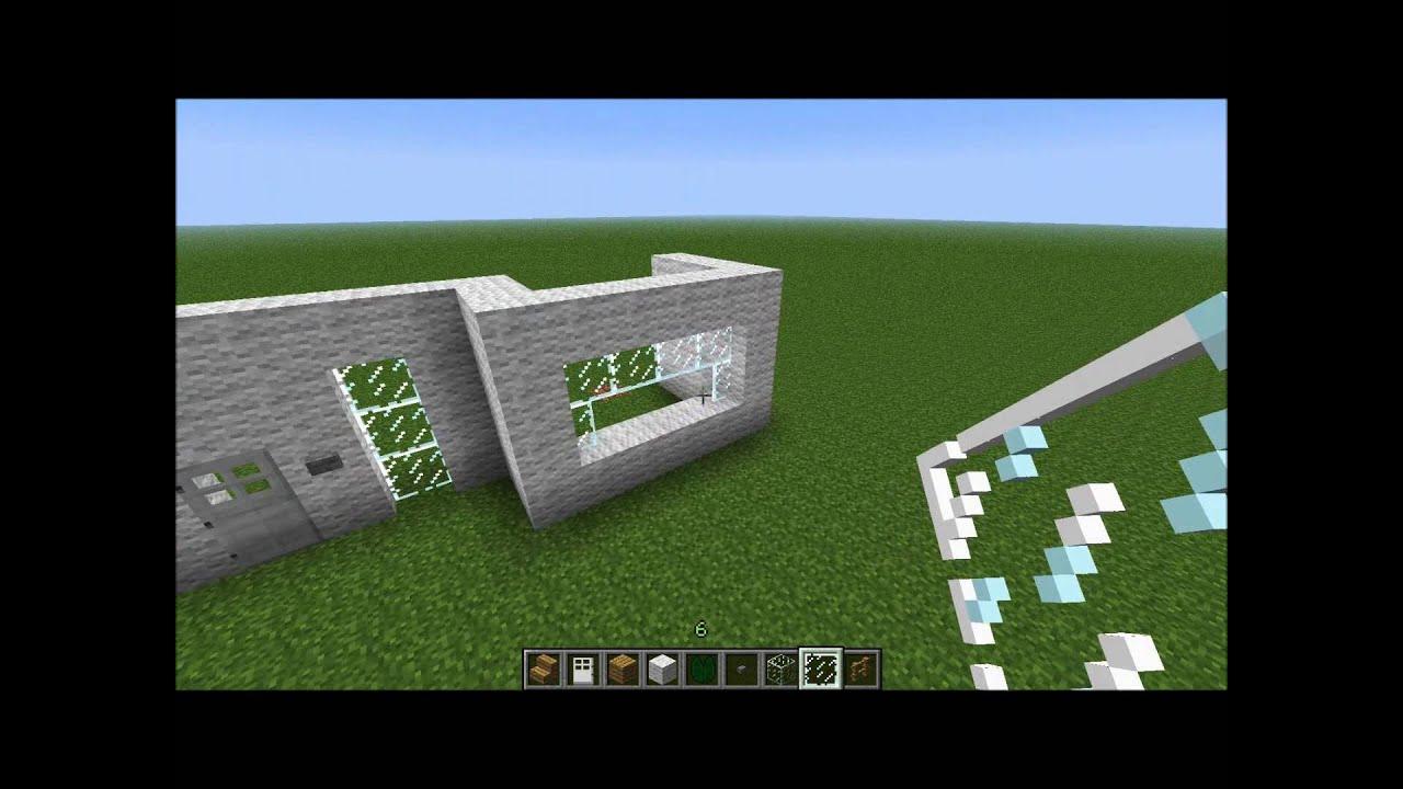 Minecraft modernes haus zum nachbauen youtube for Minecraft modernes haus download 1 7 2