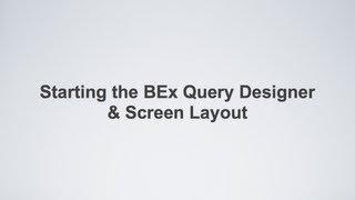 Running Queries In The SAP Bex Analyzer
