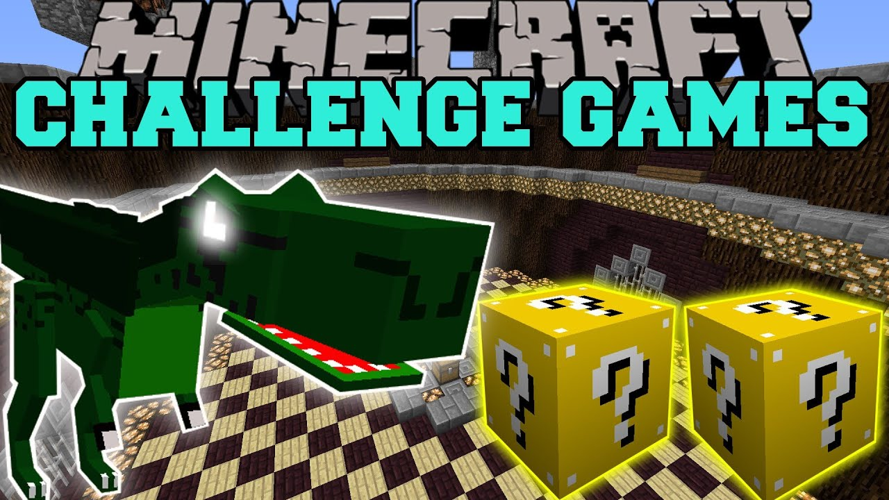 Minecraft Dinosaurs Mods Challenge Games Lucky Block