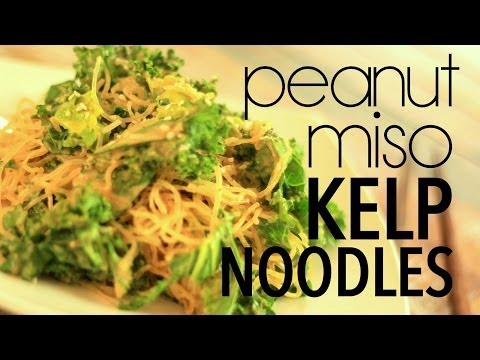 Peanut Miso Kelp Noodles | Cheap Clean Eats