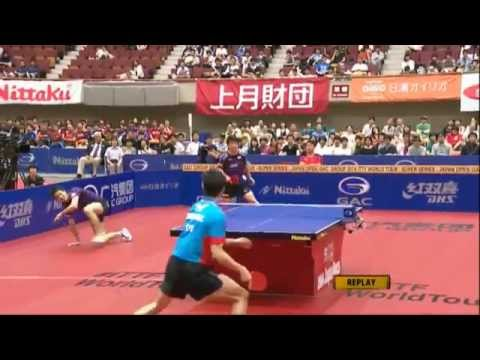 Incredible Table Tennis Rally  at #ITTFWorldTour 2014 Japan