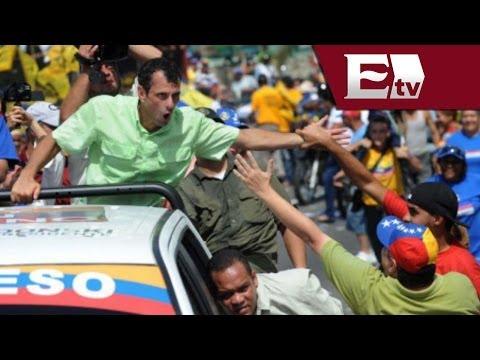 Venezuela: Henrique Capriles pide pruebas del supuesto Golpe de Estado / Excélsior informa