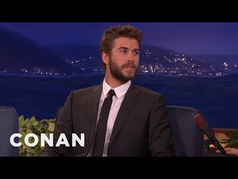 Liam Hemsworth Took A Ride On Woody Harrelson's Weedmobile  - CONAN on TBS