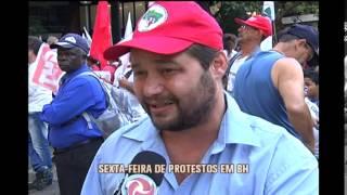 Belo Horizonte teve sexta-feira de manifesta��es e caos no tr�nsito