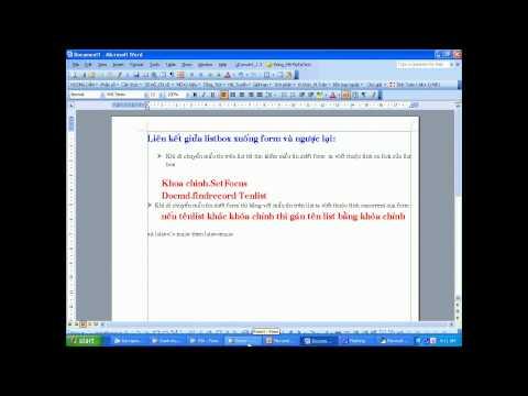 Tạo Form Chứa List Box Phần 1