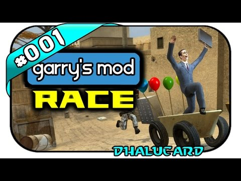GARRY'S MOD RACE #001 - DER ROLLCONTAINER - Let's Play Gmod Race - Dhalucard