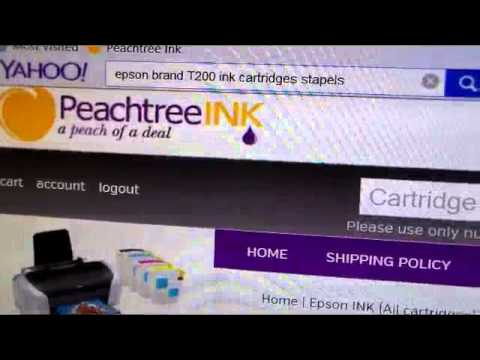 www.peachtreeink.com- Epson T200 printer ink cartridge