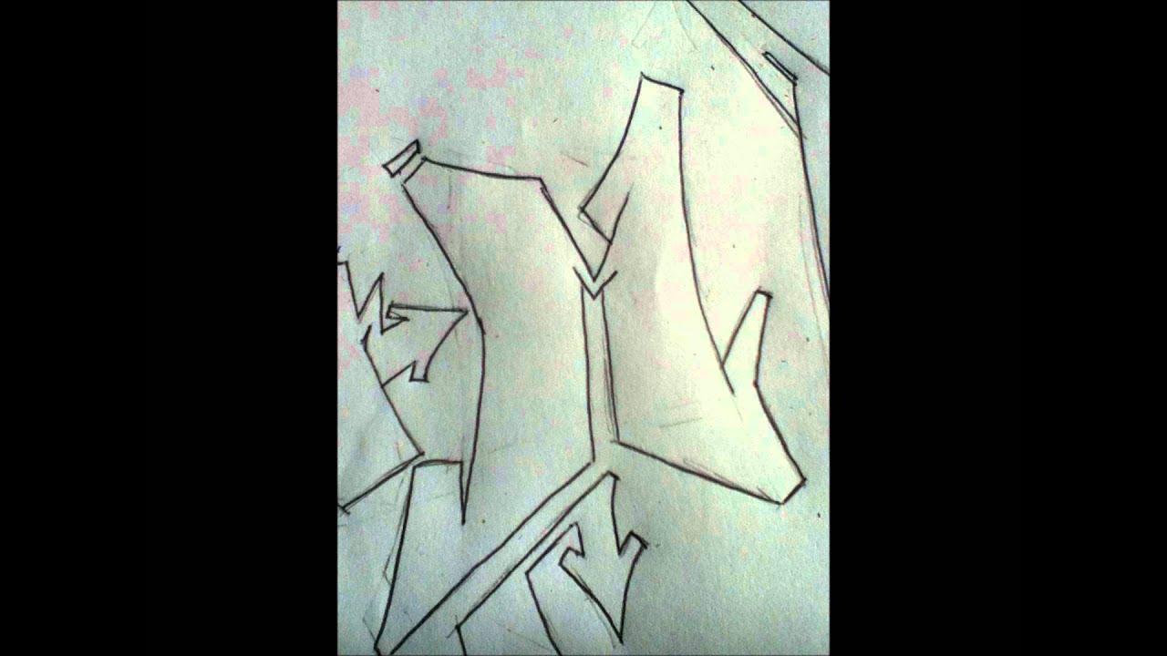 alphabet graffiti semi-wildstyle - YouTube