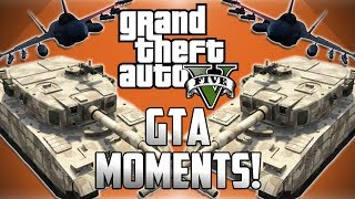 GTA 5 Online Funny Moments! - Tank Glitch, Bulldozer Fun and Wildcat The Dolphin!