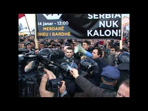 Lëvizja VETËVENDOSJE! Protesta ne Merdar 14.01.2012