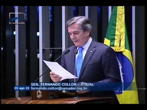 Fernando Collor volta a condenar atitudes do procurador-geral da República