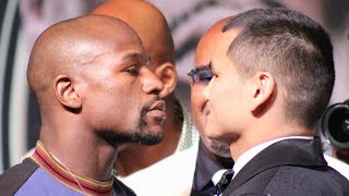 THE MOMENT: Floyd Mayweather VS. Marcos Maidana FACE-OFF