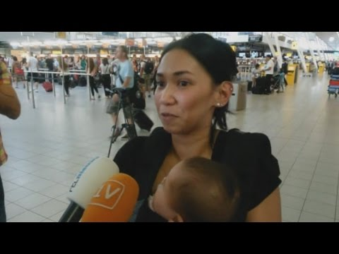 Second chance: Scottish woman and her baby miss Malaysia Airlines MH17 flight